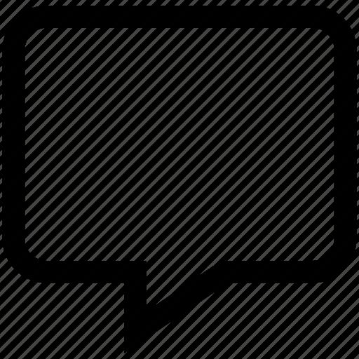chat bubble, conversation, speech bubble, square icon