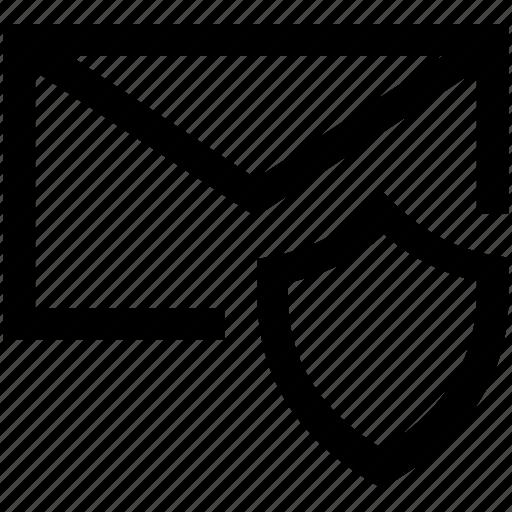 anti, envelope, firewall, mail, security, shield, virus icon