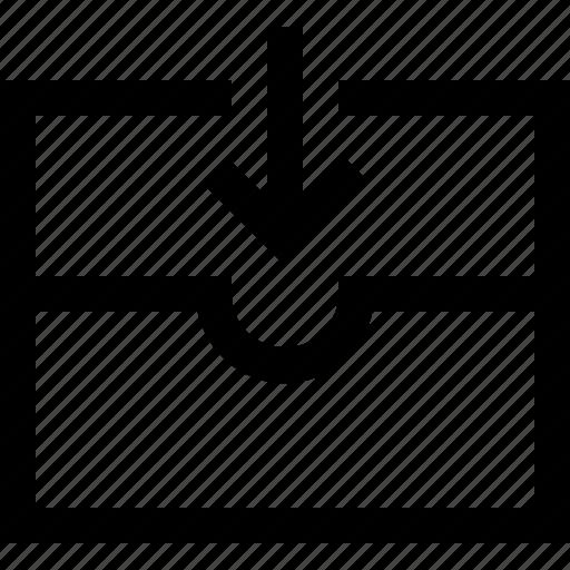 arrow, down, envelope, file, mail, receive, send icon
