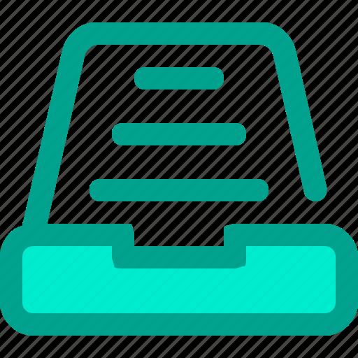 archive, catalog, folder, library, list icon
