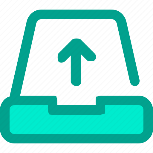 archive, catalog, folder, library, upload icon