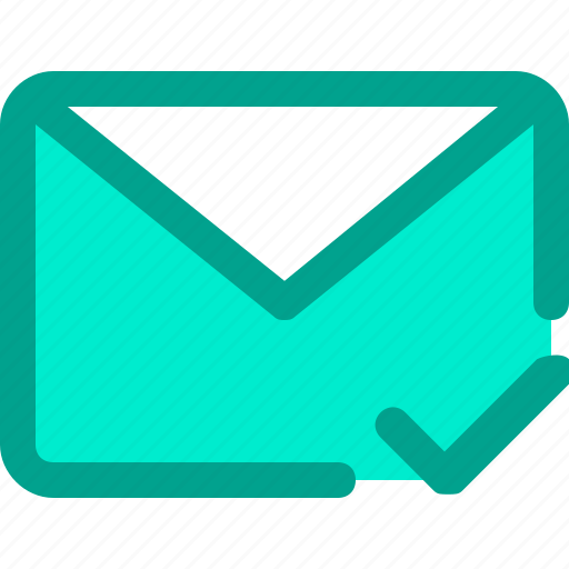 check, email, envelope, letter, mail icon