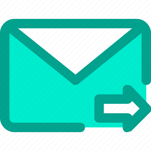 email, envelope, forward, letter, mail icon