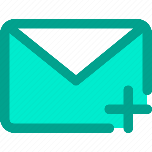 email, envelope, letter, mail, plus icon