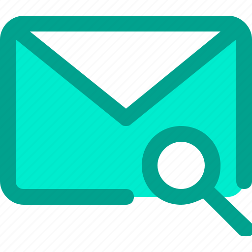 email, envelope, letter, mail, search icon
