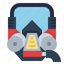 emergency, gas, mask, respirator, security icon