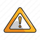 alarm, alert, caution, danger, exclamation, sign, warning icon
