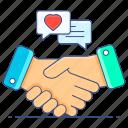 customer, relationship, commitment, handshake, handclasp, contract, agreement