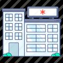 hospital, clinic, dispensary, infirmary, sanatorium
