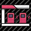 fuel, gas, gasoline, oil, petrol, petroleum, pump icon