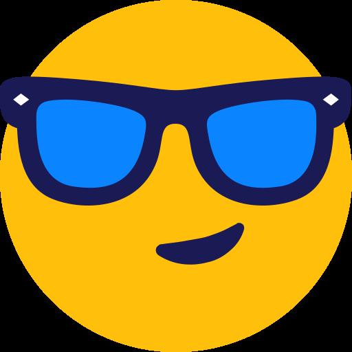 cool, smiley, sunglasses icon