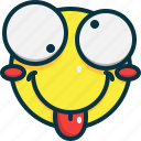 happy, emoji, smile, face, emoticon, cheeky