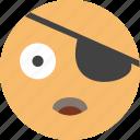 emoji, face, happy, joke, look, pirate