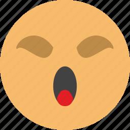 bored, emoji, face, sleep, weariness icon