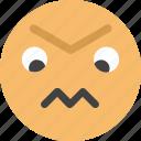 embittered, emoji, face, feeling
