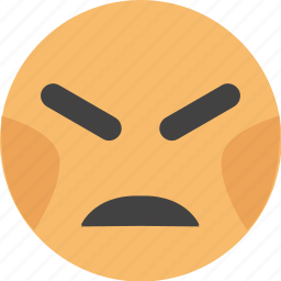 emoji, face, furious, look, savage icon