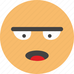 careful, emoji, face, look, mind, think icon