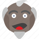 avatar, emoji, face, joke, man, old, teacher icon