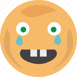 baby, cry, emoji, face, tears, tooth icon