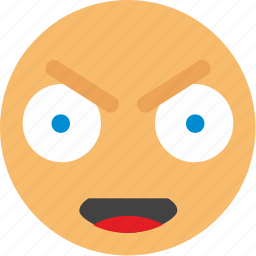 angry, bad, emoji, face, feel icon