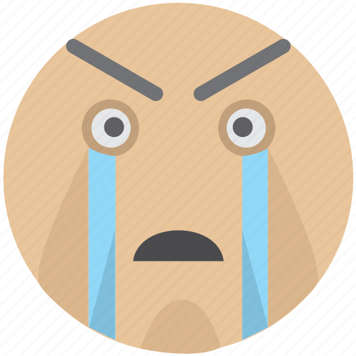 cr, cry, crying, emoji, party, smiley, tears icon