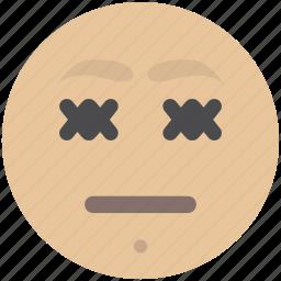 avatar, closed, emoji, eyes, face, smiley icon
