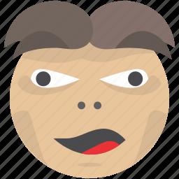 crazy, emoji, face, party, smiley icon