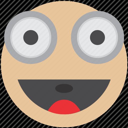emoji, emotion, enthusiastic, happy, party, smiley, surprised icon