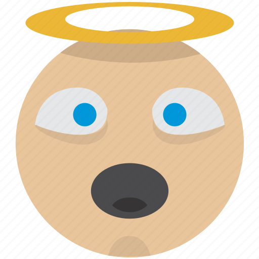 avatar, emoji, halo, saint, smiley, user icon