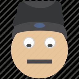 avatar, emoji, emoticon, face, hat, smiley, user icon