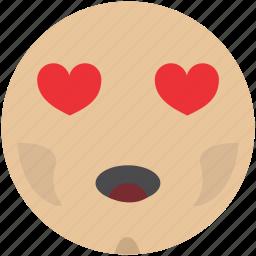 emoji, emotion, face, inlove, smiley icon