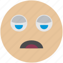 avatar, emoji, sleeping, smiley, tired, user icon