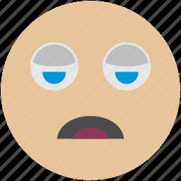 avatar, emoji, sleeping, smiley, tired, user icon