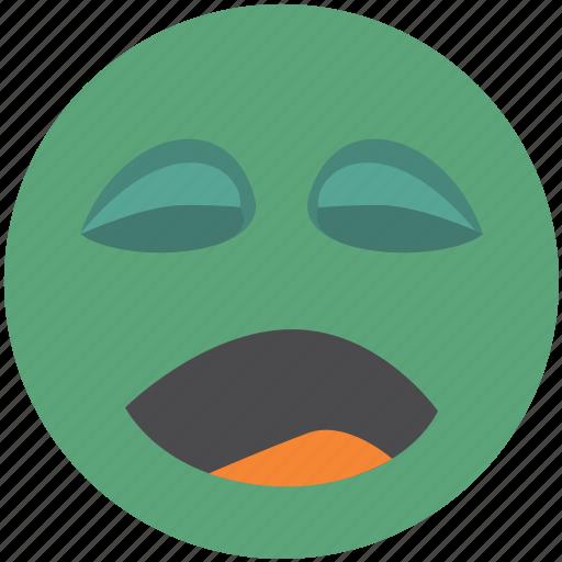 avatar, emoji, face, smiley, yawn icon