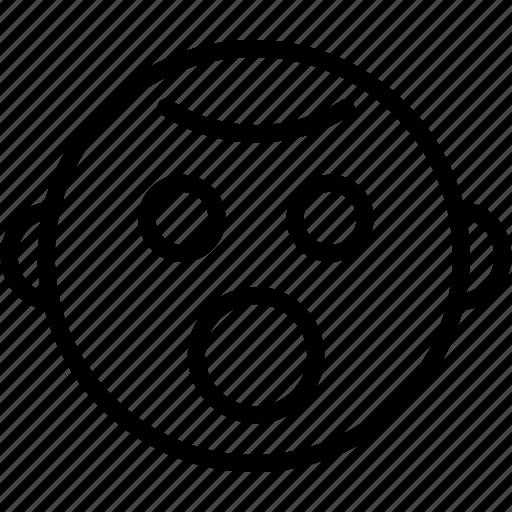 baby, child, emoji, emoticons, emotion, face, smiley icon