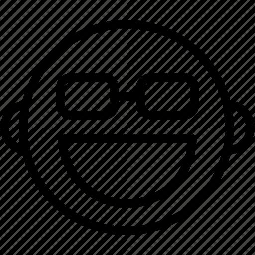 emoji, emoticons, emotion, face, geek, glasses, smiley icon