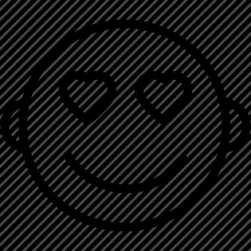 emoji, emoticons, emotion, face, heart, love, smiley icon