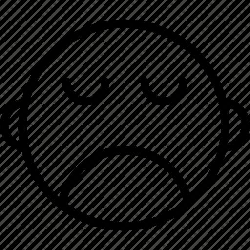 emoji, emoticons, emotion, face, sad, smiley icon