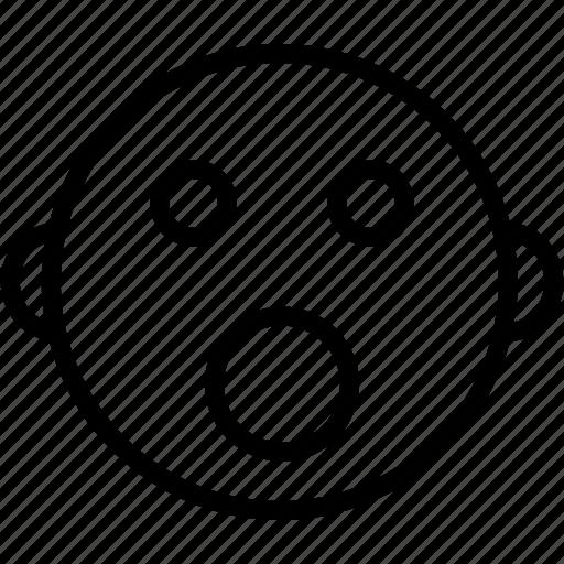 emoji, emoticons, emotion, expression, face, shocked, smiley icon