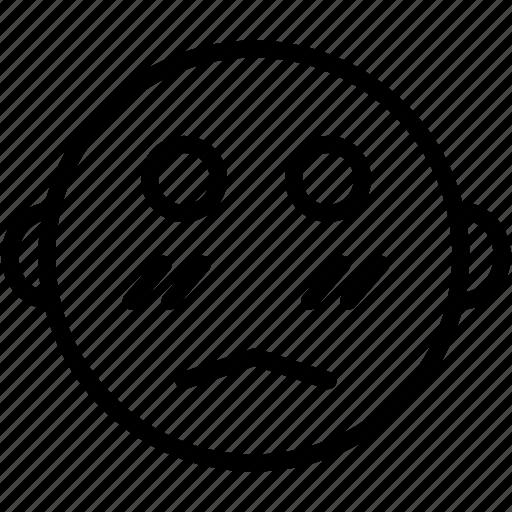 emoji, emoticon, emotion, face, sad, smiley, worried icon
