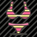 bikini, clothes, woman icon