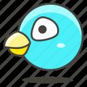 animal, bird, head icon