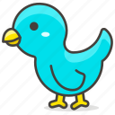animal, bird, stand icon