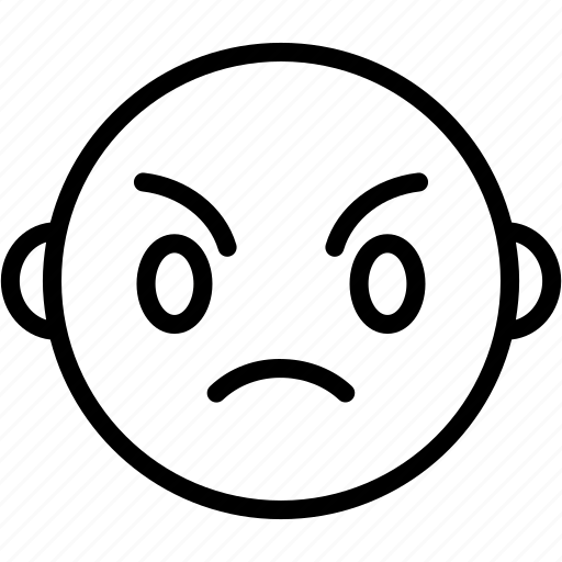 angry, emoticons, smiley, upset icon