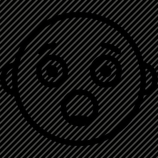 baby, child, emoji, emoticon, face, happy, smiley icon