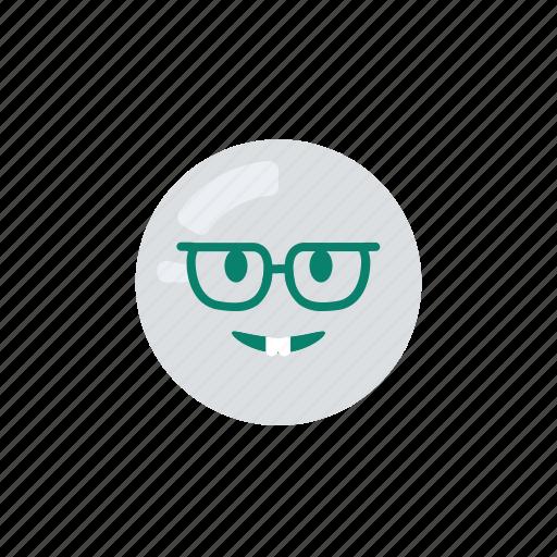emoji, emoticon, emotion, geek, nerd icon