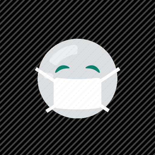 emoji, emoticon, emotion, ill, sick icon