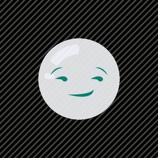 emoji, emoticon, emotion, happy, satisfied, smirk icon