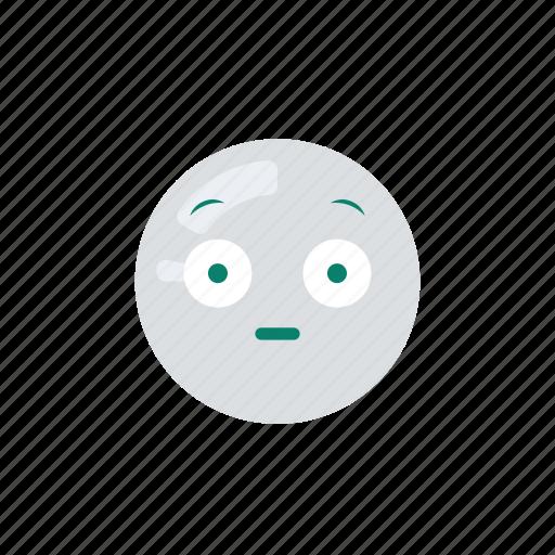emoji, emoticon, emotion, eyes, wide icon