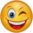 blink, cartoon, character, emoji, emotion, face, smiley
